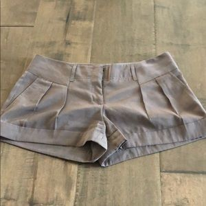 Pleated Brown Express Women's Shorts